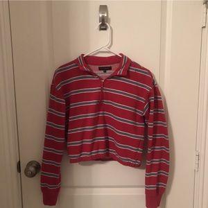 Pacsun Quarter Zip cropped jacket